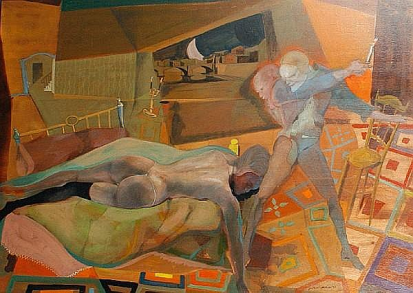 Ugo Attardi (Italian, born 1923) 'Pour seduire'