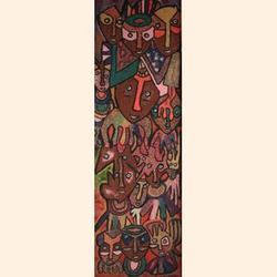 JACOB AFOLABI (b. 1940) Shango Worshippers, 1984