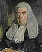 Reginald Eves (British, 1876-1941) A half length portrait of a black robed barrister, Reginald G. Eves, Click for value