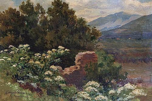 Carlo Montani (Italian, 1868-1936) Landscape 26.5 x 36 cm (10 3/8 x 14 1/4 in)