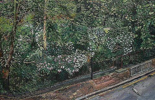 Melissa Scott-Miller (British, b.1959) An Islington garden unframed