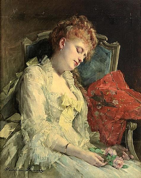 Madeleine Jeanne Lemaire (French, 1845-1928) After the ball