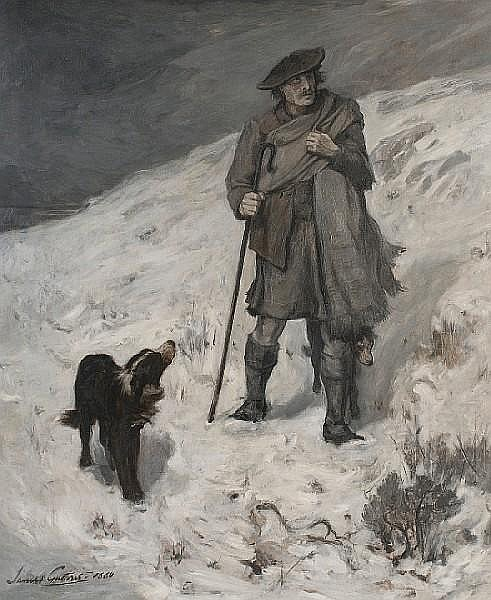 Sir James Guthrie, PRSA HRA RSW LLD (British, 1859-1930) 'A Highland Shepherd - sketch'