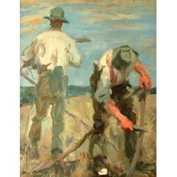 Harry Becker (British, 1865-1928) The plough team 60 x 51 cm.