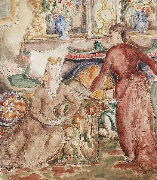Harold Hope Read (British, fl.1907-1928) Drawing Room