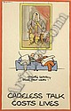 Fougasse (Cyril Kenneth Bird) (British, 1887-1965) Careless Talk Costs Lives, the complete set of eight original posters, Cyril Kenneth Bird, Click for value
