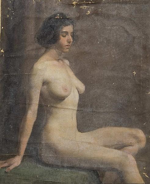 Charles Knight (British, 1901-1990) Female nude study