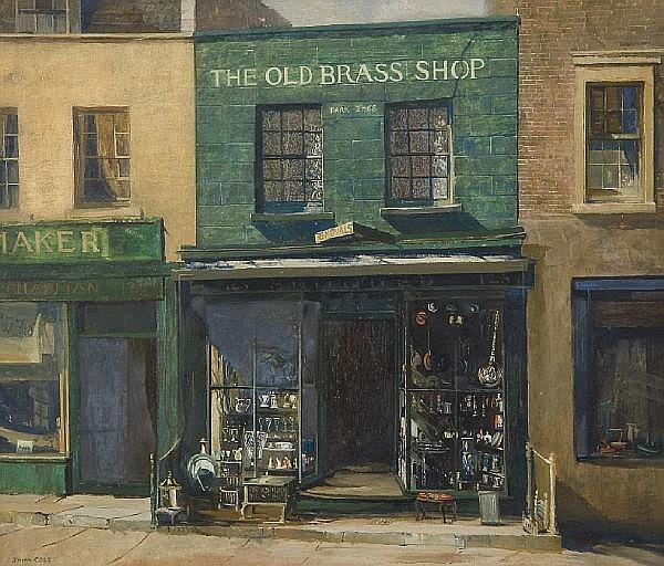 John Vicat Cole (British, 1903-1975) The Old Brass Shop, 125 Kensington Church Street
