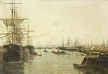 Edmond Marie Petitjean (French, 1844-1925) A French harbour
