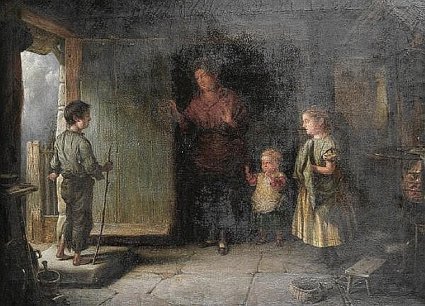 Edwin Cockburn (British, active 1837-1868) 'The Castaway'