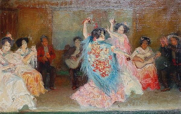 Claude Marks (French, active 1899-1915) Spanish dancers
