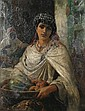 Robert Kemm (British, 1837-1895) 'A Kabyle Fruit Seller, Algiers', Robert Kemm, Click for value