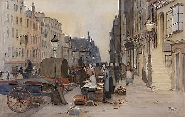 James Little (British, active 1875-1910) The Royal Mile, Edinburgh