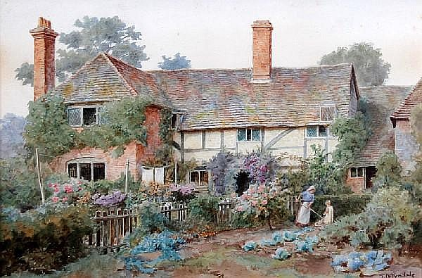 Thomas Nicholson Tyndale (British, 1860-1930) 'Farncombe, Surrey'
