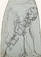 Giovanni Battista Franco, called Il Semolei (1498-1561) Study of a stooping male figure (overall), Giovanni Battista Franco, Click for value