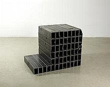 AR TP MONA HATOUM (B. 1952) Bunker (cube bldg) 2011 mild steel tubing 90 by
