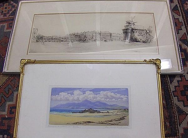 Robert Cresswell Boak (Irish, born 1875) The Mousnl Mountains from Kinsella
