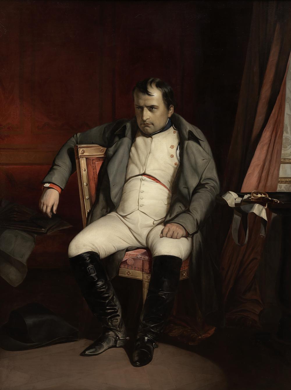 Studio of Paul Hippolyte Delaroche (French, 1797-1856) NAPOLEON ABDIQUANT A FONTAINEBLEAU