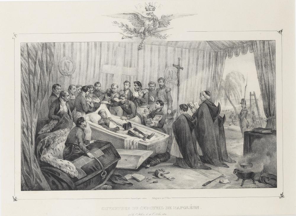 Victor Adam (French, 1801-1866) Translation des Cendres de l'Empereur Napoleon de Saint-Hélène a Paris each sheet 30 x 44cm
