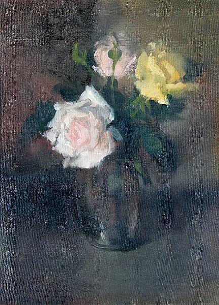 Leszek Tadeusz Muszynski (Polish, born 1923) Still life of roses,