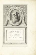 DA VINCI, LEONARDO. 1452-1519. TRICHET DU FRESNE, RAPHAEL, editor. 1611-1661. Trattato della Pittura di Lionardo da Vinci. Paris: Jacques Langlois, 1651.