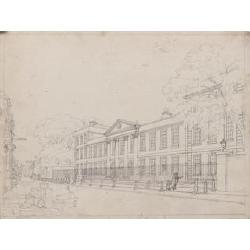Augustus Charles de Pugin O.W.S., (French, 1762-1832) The Front of Emanuel College; The Hall of Emanuel College; Trinity Church; The...