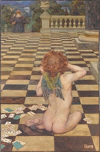 Eleanor Fortescue-Brickdale (British, 1871-1945) O love! Has she done this to thee? What shall, alas! become of me? unframed
