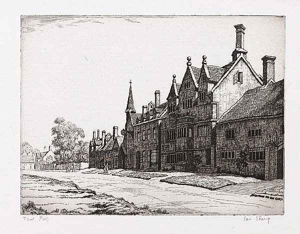 Ian Strang (British, 1886-1952) A Collection Etchings, a group of eleven works, including;