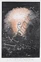 Francesco Piranesi (Italian, born circa 1758-1810) Fuoco artificiale detto la Girandola Etching in colours, c1790, after Louis-Jean Desprez, with the title and 'Desprez disegno' and Fran. Piranesi inc.' lower centre, on thick laid, with a shield and, Francesco Piranesi, Click for value