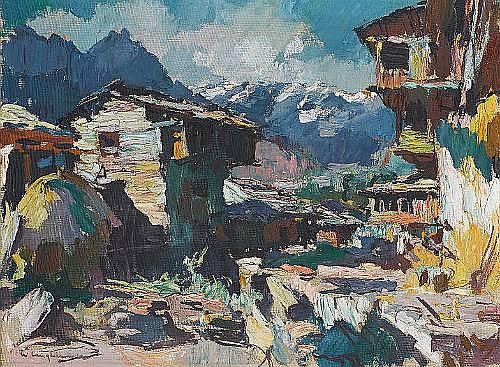 Walter Langhammer (Austria, 1905-1977) Himalayan Landscape
