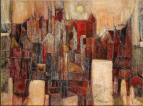 Sadanand K. Bakre (India, b. 1920) Cityscape