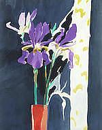 AR  Donald Hamilton Fraser RA (British, 1929-2009) 'Irises'