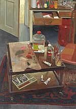 AR  Benjamin Sullivan (British, born 1977) Studio interior with artist's palette