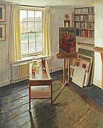AR  Benjamin Sullivan (British, born 1977) The artist's studio with easel