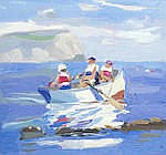 AR  Julian Bailey (British, born 1963) 'A family outing off Ringstead'
