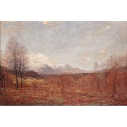 †Alexander Brownlie Docharty, (British, 1862-1940) 'Lochaber' 34 x 50 in (86.4 x 127 cm)