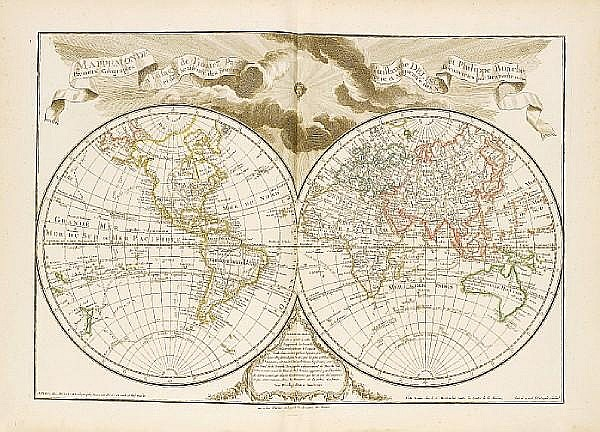 DELISLE (GUILLAUME) and PHILIPPE BAUCHE Atlas géographique et universel, 2 vol.