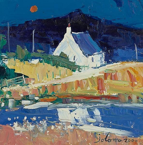 John Lowrie Morrison (British, born 1948) White cottage