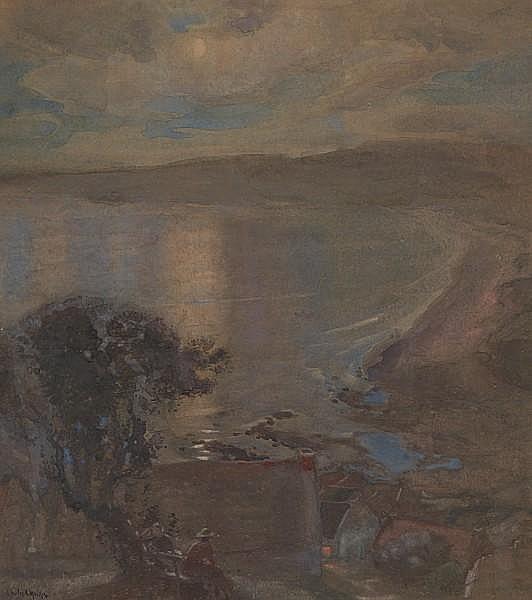 Charles Hodge Mackie, RSA RSW PSSA (British, 1862-1920) Evening on the bay