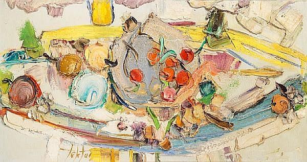 Manoucher Yektai (Iran, born 1922) Still life with fruit,