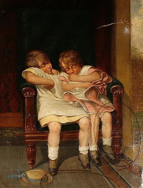 Follower of William Harold Cubley (British, 1816-1896) Our boys