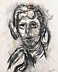 Henryk Gotlib (Polish, 1890-1966) Head portrait, Henryk Gotlib, Click for value