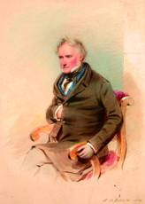 Samuel Barry Godbold (British, fl.1842-1875) Portrait of a Gentleman signed and dated 1854, watercolour 43 x 31.5 cm.