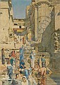 Herbert Arnould Olivier (British, 1861-1952) Bathing in the Ganges at Benares, India, Herbert A. Olivier, Click for value