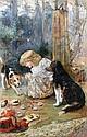 Follower of Charles Burton Barber (British, 1845-1894) The dog's tea party, Charles Burton Barber, Click for value