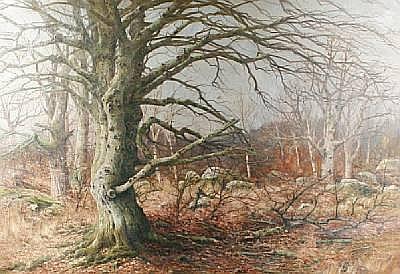 Joseph Charles François (Belgian, 1851-1949) Forêt de Fontanebleau