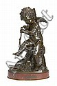 After Charles Gabriel Lemire, French (1741-1827) A 19th century bronze figure of Cupid Enfant à l'Arc, Charles Gabriel Lemire, Click for value