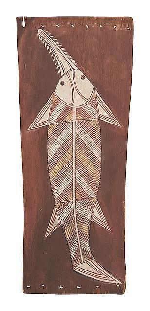 Jimmy Nakkuridjdilmi Nganjmirra (circa 1917-1982) Swordfish