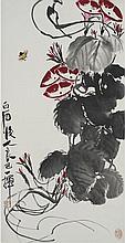 Qi Liangyi (1923 - 1988) Morning Glory