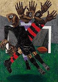 Albert Tucker (1914-1999), Footballers 1955 oil on